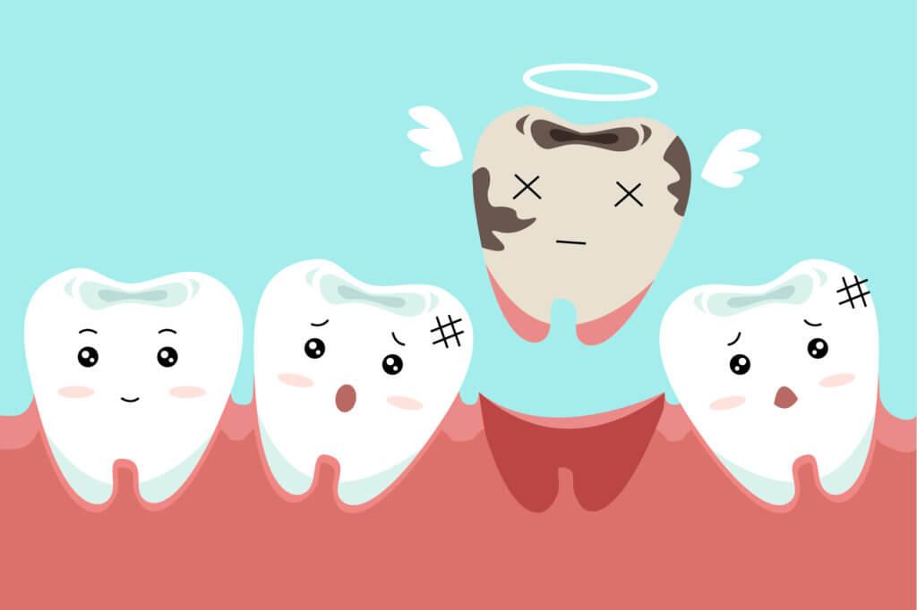 不牙周治療的後果:掉牙